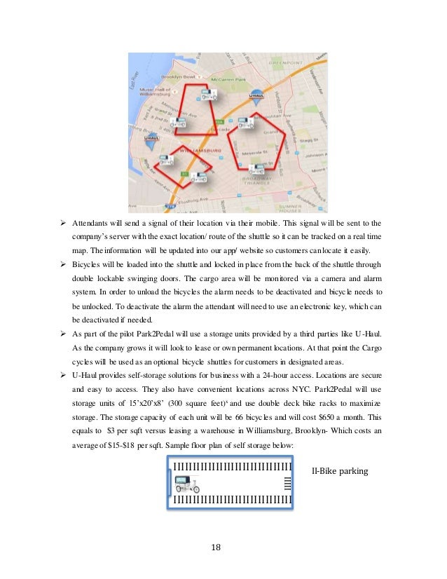 Park2Pedal Business Plan- Capstone on