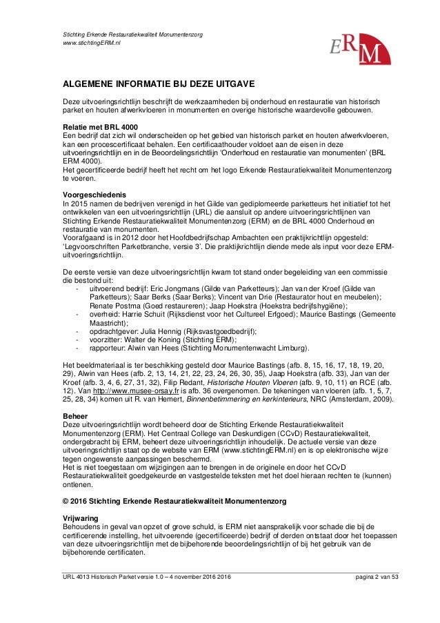 URL 4013 Historisch Parket versie 1.0 - def (gew 161223) Slide 2