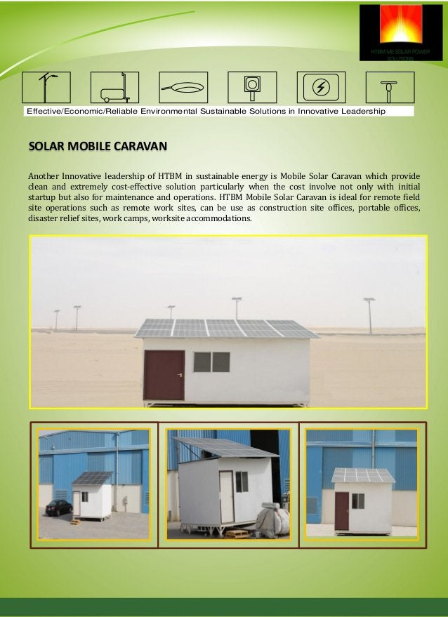 SOLAR POWER SOLUTIONS HTBM Power Solutions are roof mounted or architecturally integrated solar power systems providing ze...