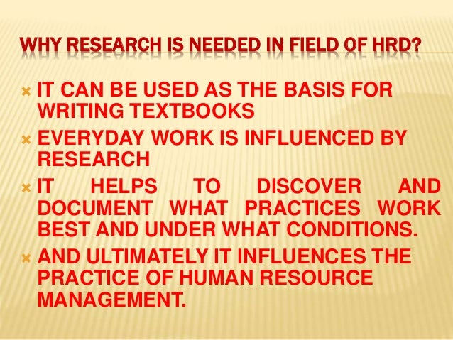 research on hrd Research in higher education journal undergraduate hrd programs, page 1 undergraduate hrd programs in the united states jessica li.