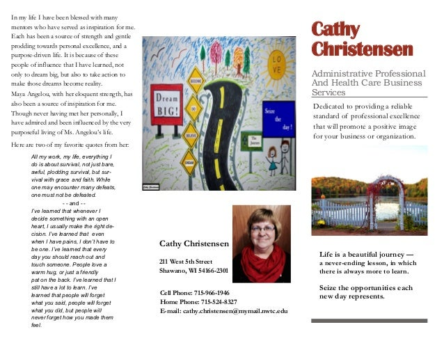 Cathy Christensen Administrative Professional And Health Care Business Services Dedicated to providing a reliable standard...