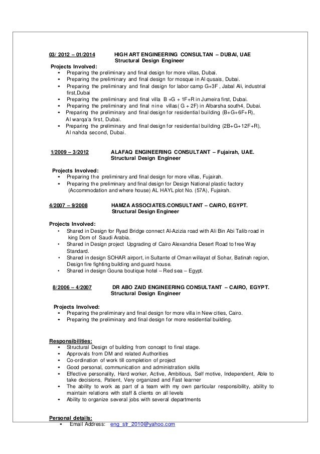 how to structure a cv - Text