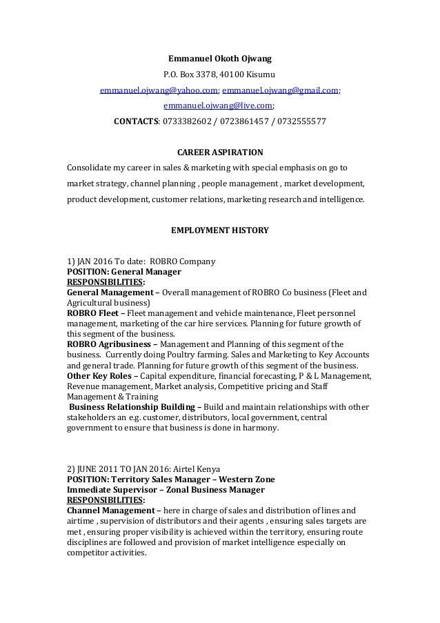 Emmanuel Okoth Ojwang Resume