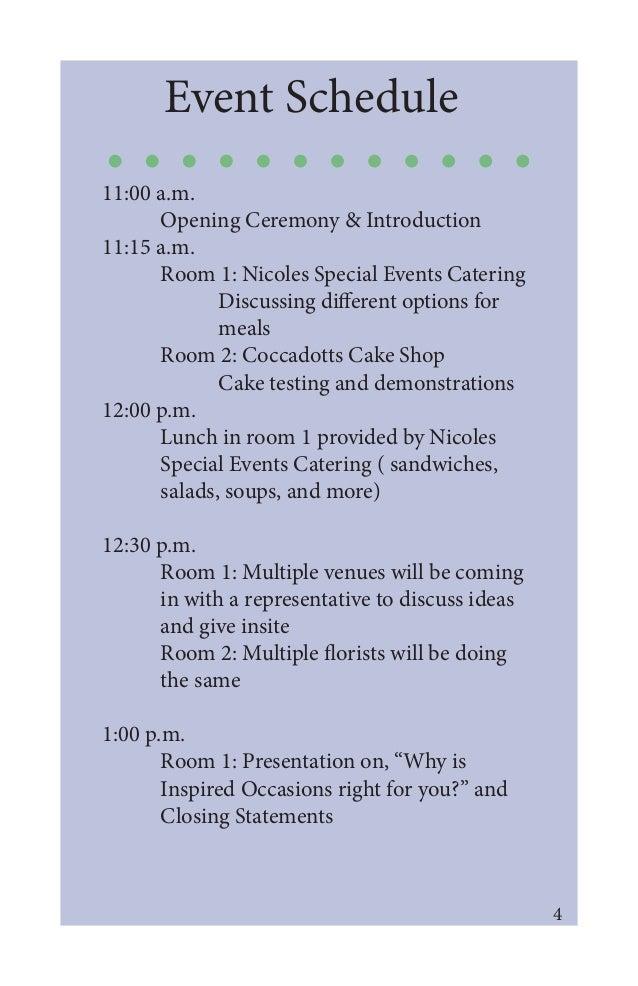 MockUp Event Program