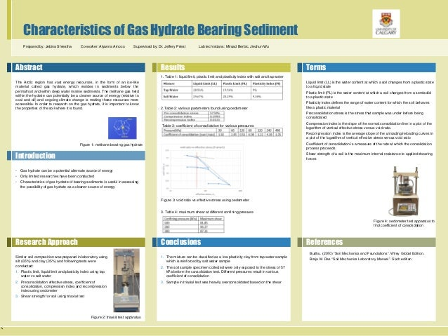 ` Characteristics of Gas Hydrate Bearing Sediment Prepared by: Jebina Shrestha Co-worker: Alyanna Arnoco Supervised by: Dr...