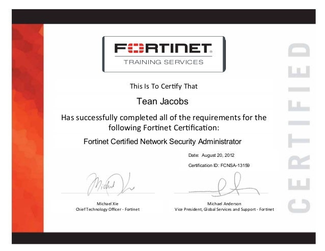 FCNSA - Fortinet Certified Network Security Administrator