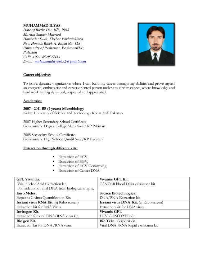 sample cv for teaching job in pakistan