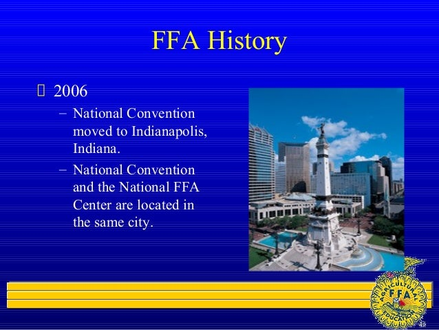 ffa and its history Transcript of ffa emblem, history, & uniform what is ffa is a dynamic student led leadership development organization for students  future farmers of america.
