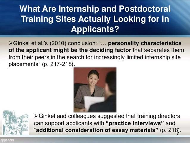 internships essays applicants