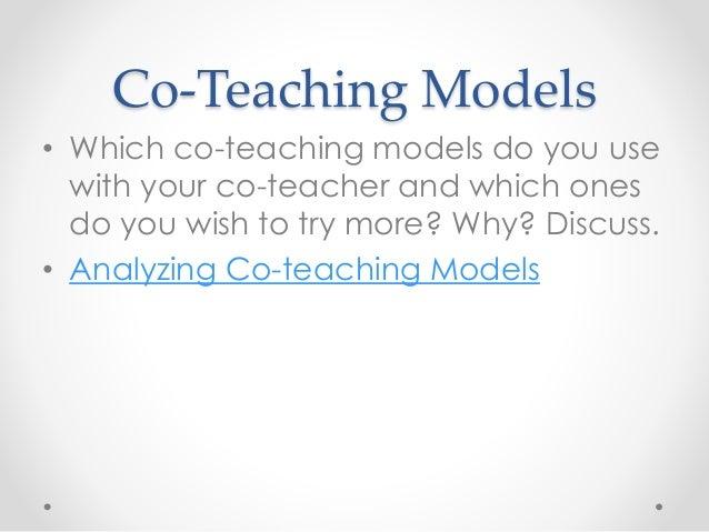 Collaborative Co Teaching Model : True collaboration