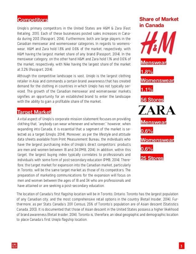 uniqlo target market Chapter 5 industry and market place  chapter 8 strategic target audiences  recognize uniqlo as top casual wear brand and.