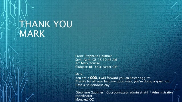 Thank you mark thank you mark from stephane gauthier sent april 02 15 10 negle Images
