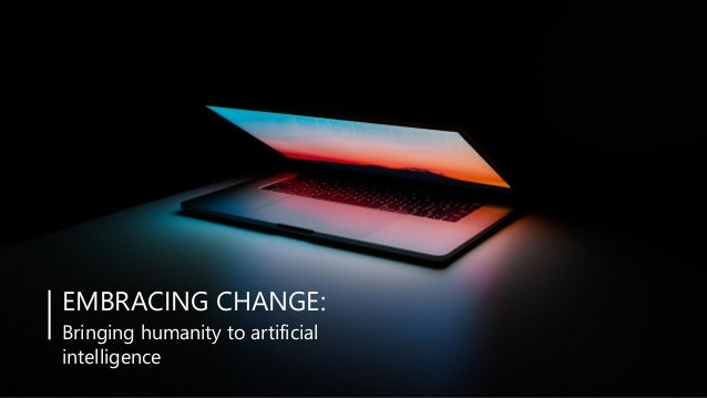 YOUR COMPANY NAMEwww.yourdoma 1Embracing change: Bringing humanity to artificial intelligence POWERPOINT PRESENTATION TEMP...