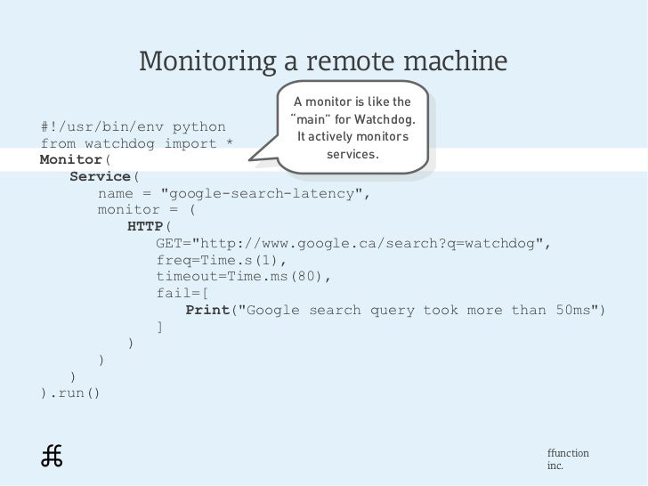 Monitoring a remote machine                             A monitor is like the                              A monitor is li...