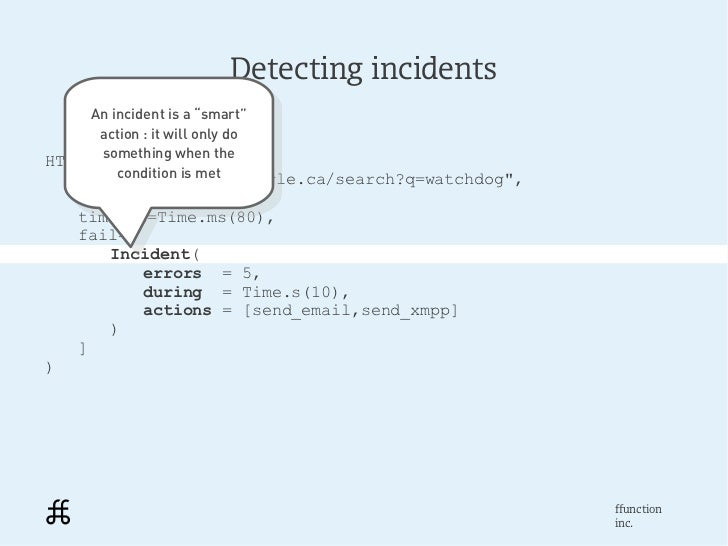 """Detecting incidents     An incident is a """"smart""""      An incident is a """"smart""""      action : it will only do       action ..."""