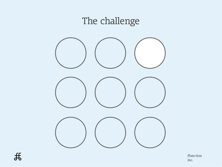 The challenge                ffunction                inc.
