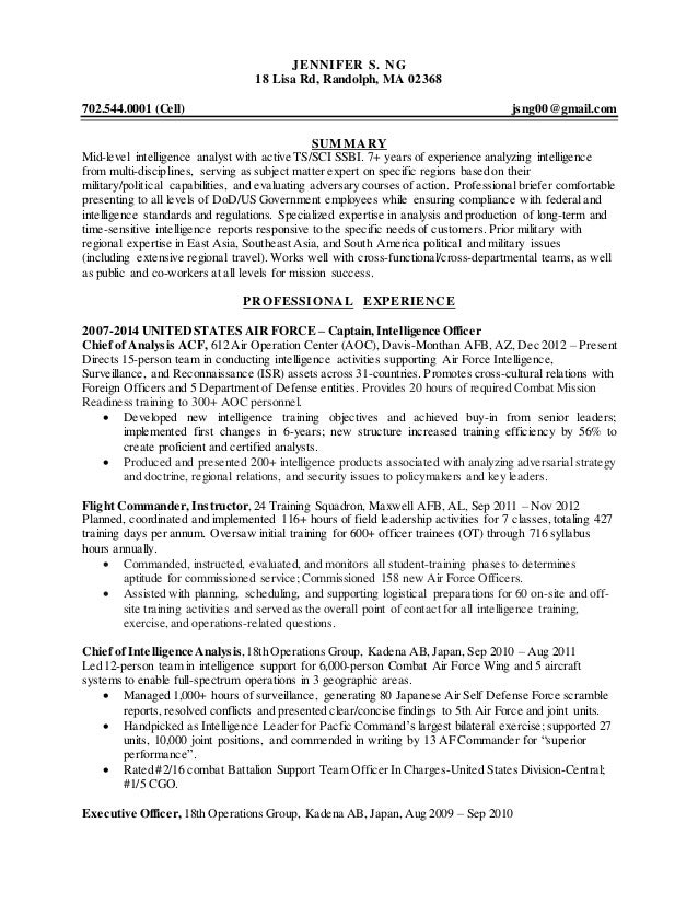 Formatting Your Application Resume