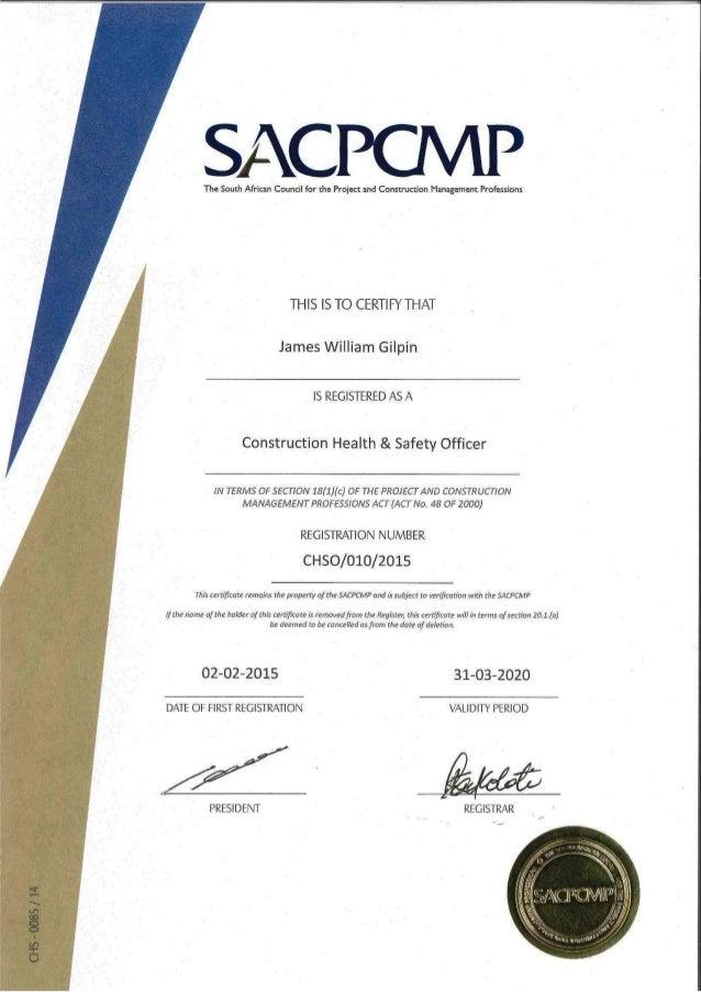 Cv Amp Certificates