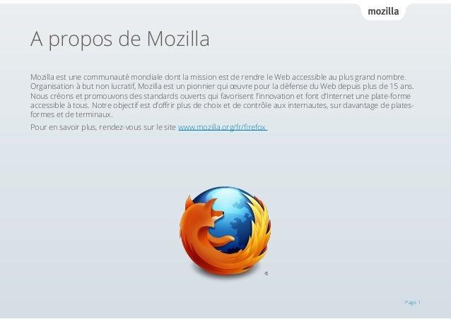 Guide officiel de l'utilisateur Firefox Slide 3