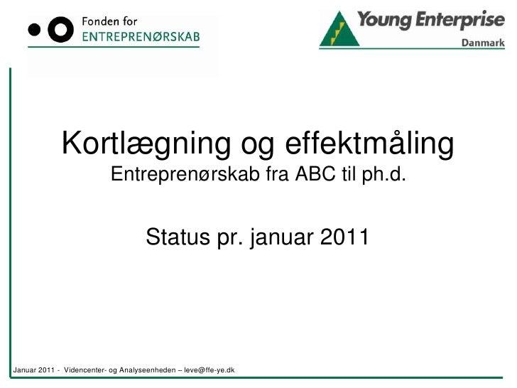 Kortlægning og effektmåling -  januar 2011