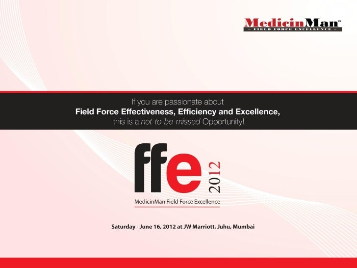 About the Event at a GlanceMedicinMan presents the first of its kind Field ForceExcellence Conference with a CEO Roundtabl...