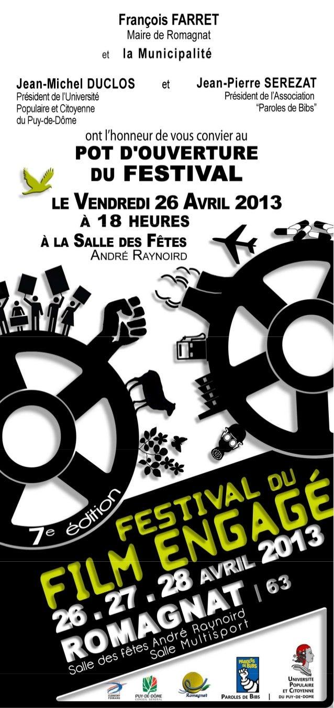 Ffe 2013 invitation soirée d'ouverture