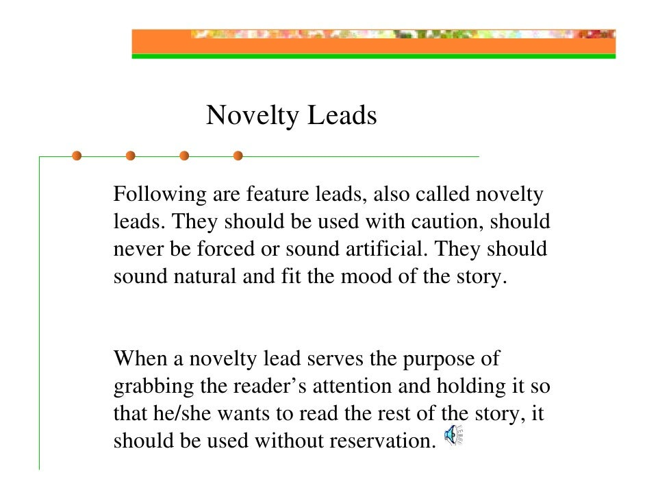 Feature Writing Slides