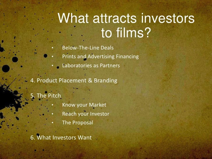 filmmakers and financing business plans for independents by louise levison