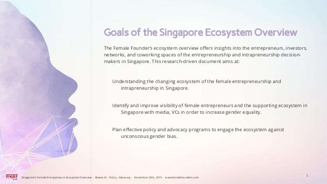 The Female Founders Singapore Startup Ecosystem Overview.  Slide 3