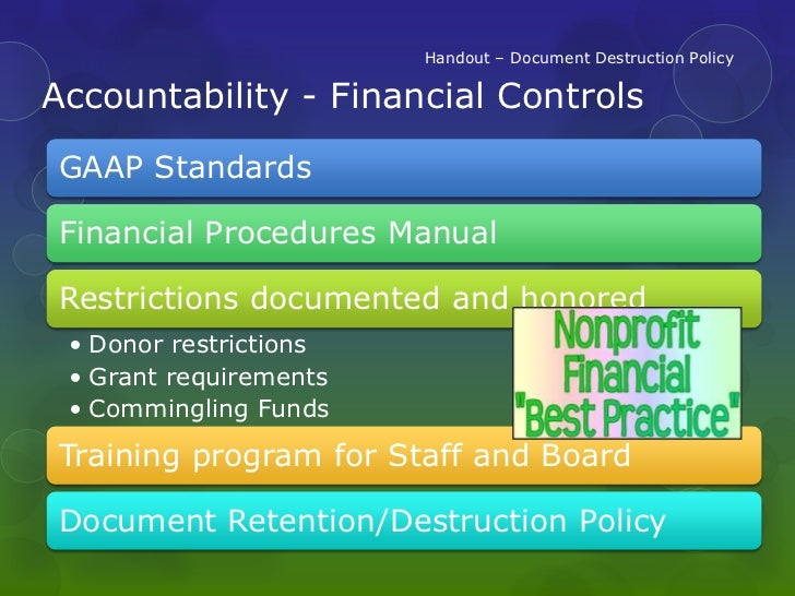 financial policies and procedures manual for nonprofits