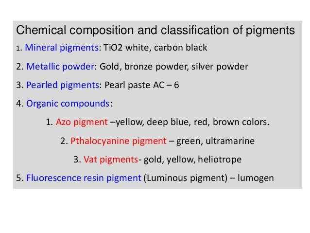 a36d8a0516168 pigments and their characterstics