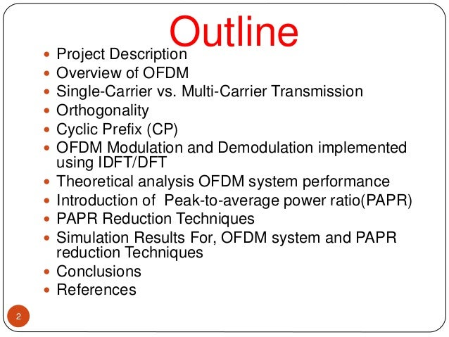 ofdm simulation and analysis