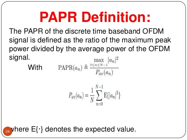 ofdm papr reduction thesis The goal of this thesis is to analyze papr reduction performance in 5g communication 5g communication technology is beyond 4g ofdm is used in 4g communication but it has the the goal of this thesis is to analyze papr reduction performance in 5g communication 5g communication.
