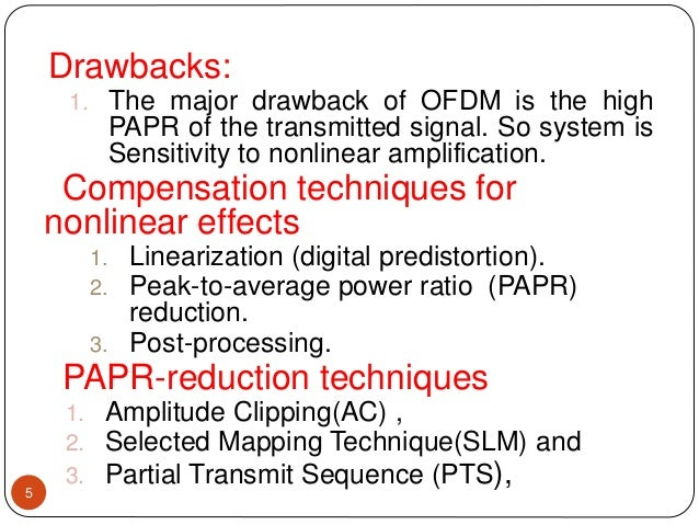 peak to average power reduction for multicarrier modulation thesis The research paper published by ijser journal is about study of peak-to-average power ratio reduction techniques for ofdm signals.