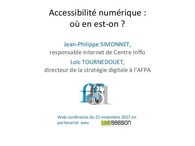 Jean-Philippe SIMONNET, responsable internet de Centre Inffo Loïc TOURNEDOUET, directeur de la stratégie digitale à l'AFPA...