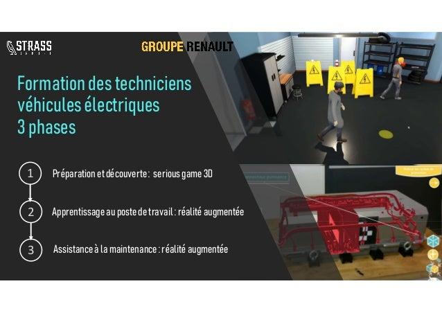 Formationdestechniciens véhiculesélectriques 3phases Apprentissage au postede travail:réalitéaugmentée 1 2 Préparationetdé...