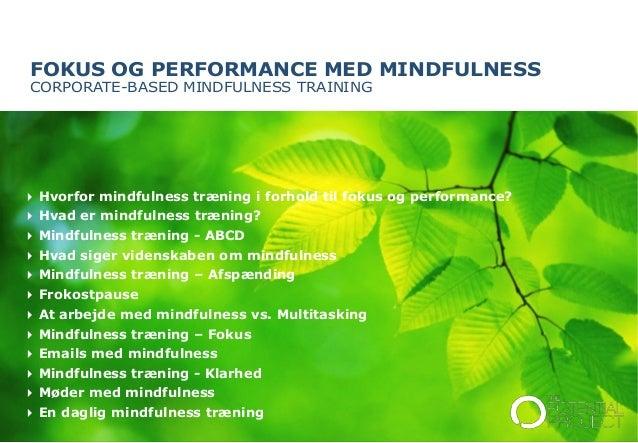 hvad er mindfulness