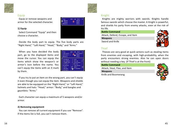 Final fantasy iii manual 1. 01.