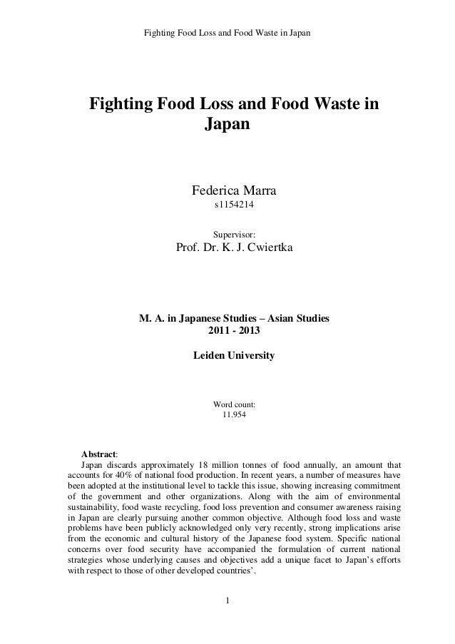 waste thesis