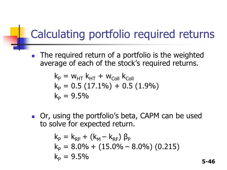 rate of return and stock Required rate of return 是必要报酬率,一般用以投资项目决策时,将投资项目的收益率与该必要报酬率比较,如果大于该必要报酬率,说明项目可行。 expect rate.