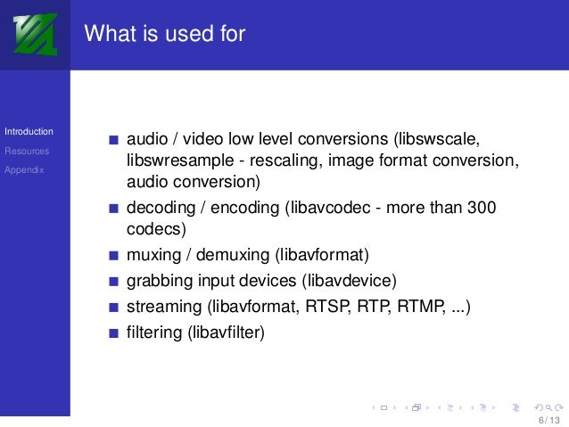 FFmpeg - the universal multimedia toolkit