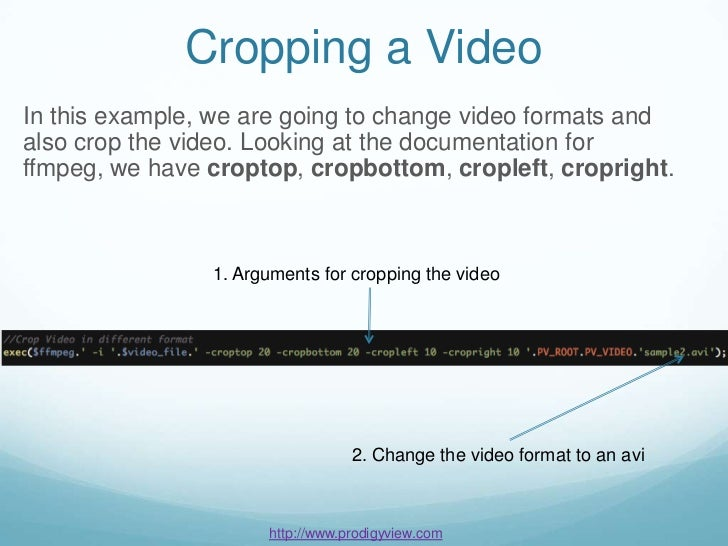 FFMPEG Video Basics for PHP Tutorial