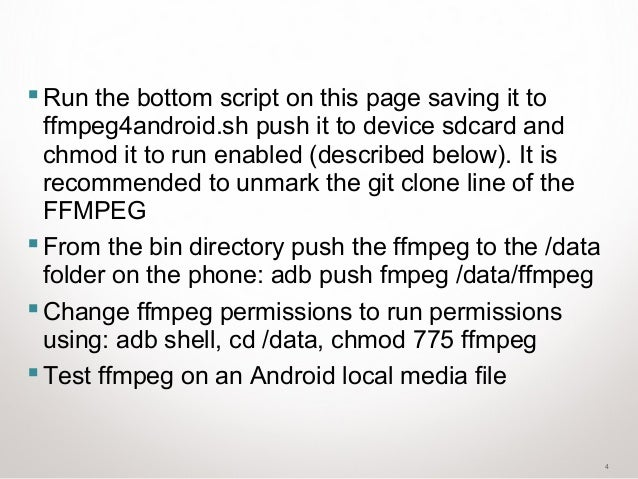 FFMPEG on android