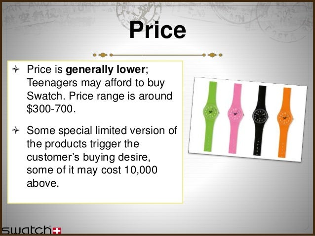 swatch case study Case study swatch, switzerland customer background swatch ag is a part of the swatch group ltd, the largest manufacturer and distributor of finished watches.