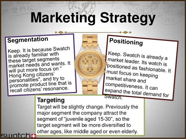Marketing swatch watch