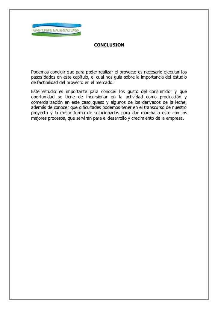 CONCLUSION     Podemos concluir que para poder realizar el proyecto es necesario ejecutar los pasos dados en este capítulo...