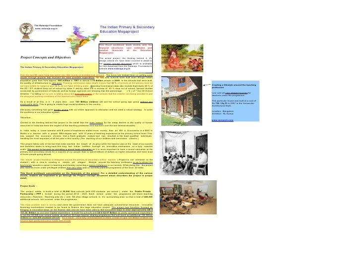 The Nataraja Foundation                      www.nataraja.org.in                                      The Indian Primary &...