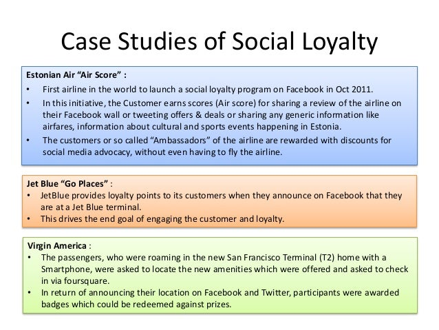 """Case Studies of Social Loyalty Estonian Air """"Air Score"""" : • First airline in the world to launch a social loyalty program ..."""