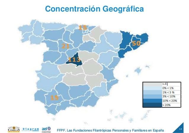 14 FFPF. Las Fundaciones Filantrópicas Personales y Familiares en España Concentración Geográfica