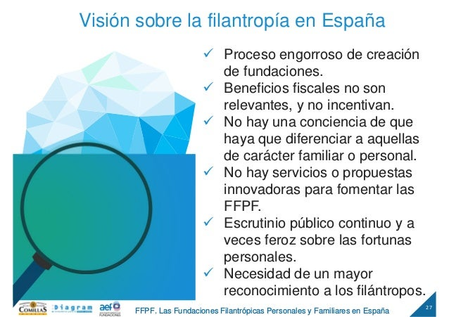 27 FFPF. Las Fundaciones Filantrópicas Personales y Familiares en España Visión sobre la filantropía en España Proceso eng...